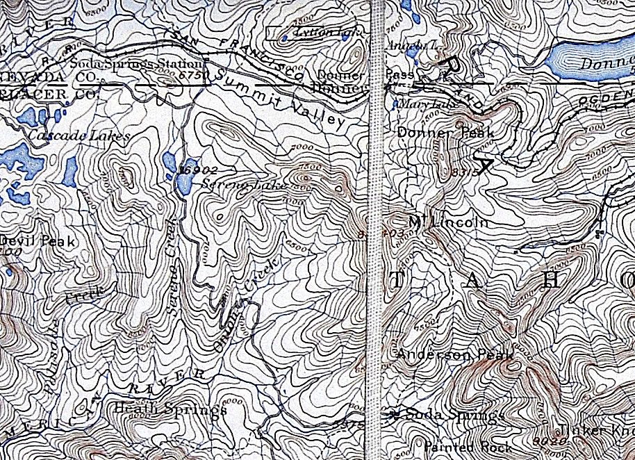 Donner Summit Historical Society Historical Maps